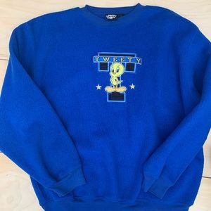 Tweety Vintage 90's Fleece Crewneck